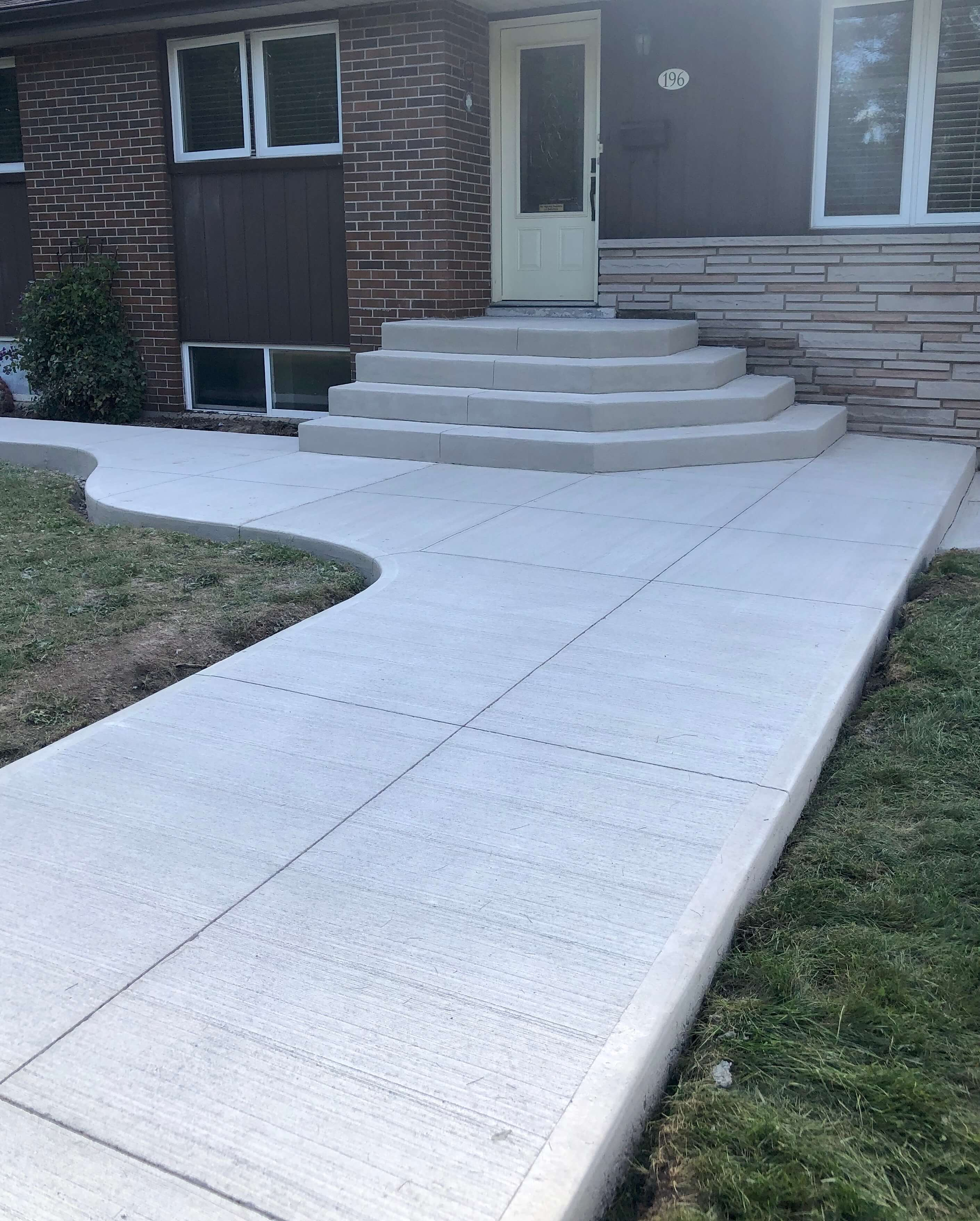 Broom Finish Walkway and Stairs